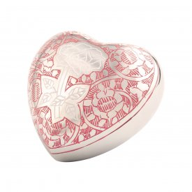 Pink Rose Heart Keepsake