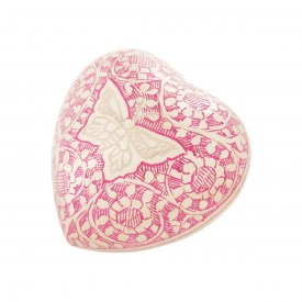 Pink Butterfly Heart Keepsake
