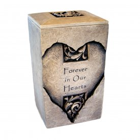 Heart Urn engraved