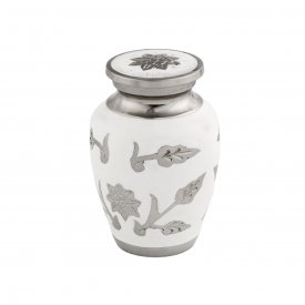 White Rose Mini Urn